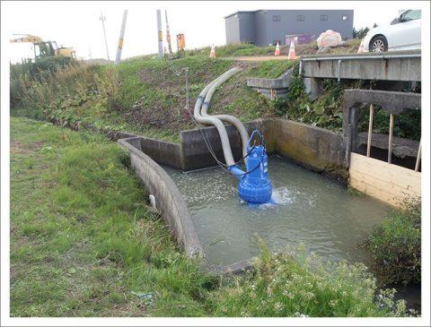 用水路工事(既設取壊し新設)