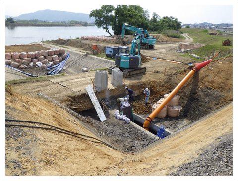 排水樋管設置工事