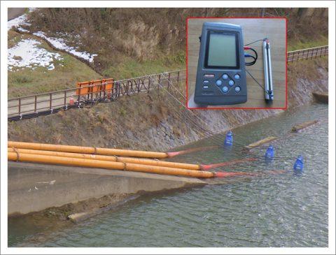 流量計により排水量を測定
