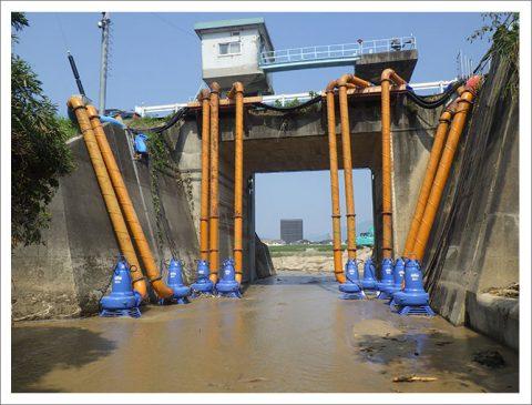 豪雨災害による排水機場復旧工事(広島県)