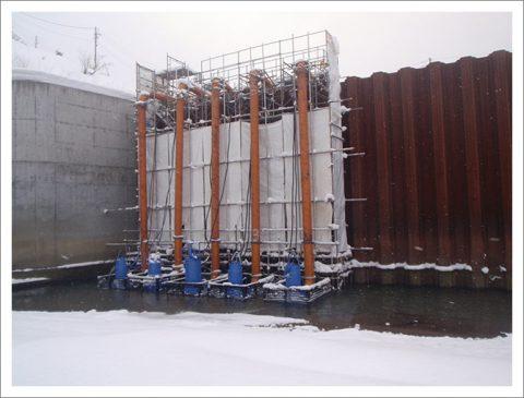 ダム工事(吐出量 毎分90m3以上)